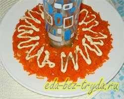 Салат гранатовый браслет с курицей 4 шаг