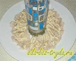 Салат гранатовый браслет с курицей 3 шаг