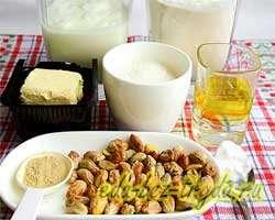 как приготовить Имбирно-йогуртовые маффины с фисташками (без яиц)