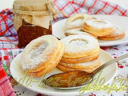 Песочное печенье с джемом рецепт с фото