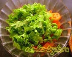 Салат овощной 4 шаг