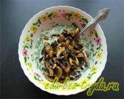 Киш с грибами 13 шаг