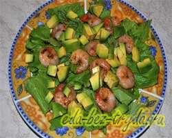 Салат с авокадо и креветками 8 шаг