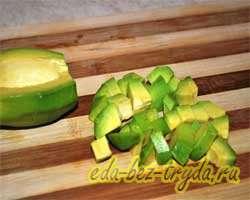 Салат с авокадо и креветками 1 шаг