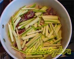 Теплый овощной салат 7 шаг