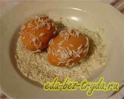 Пасхальные яйца 1 шаг