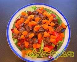 Салат из куриной печени с мандаринами 8 шаг