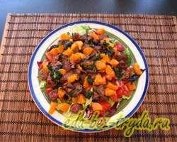 Салат из куриной печени с мандаринами 10 шаг