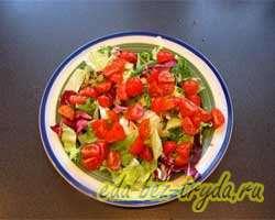 Салат из куриной печени с мандаринами 6 шаг