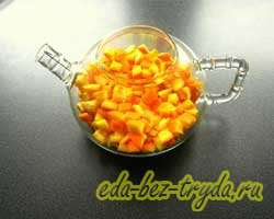Апельсиновый чай 2 шаг