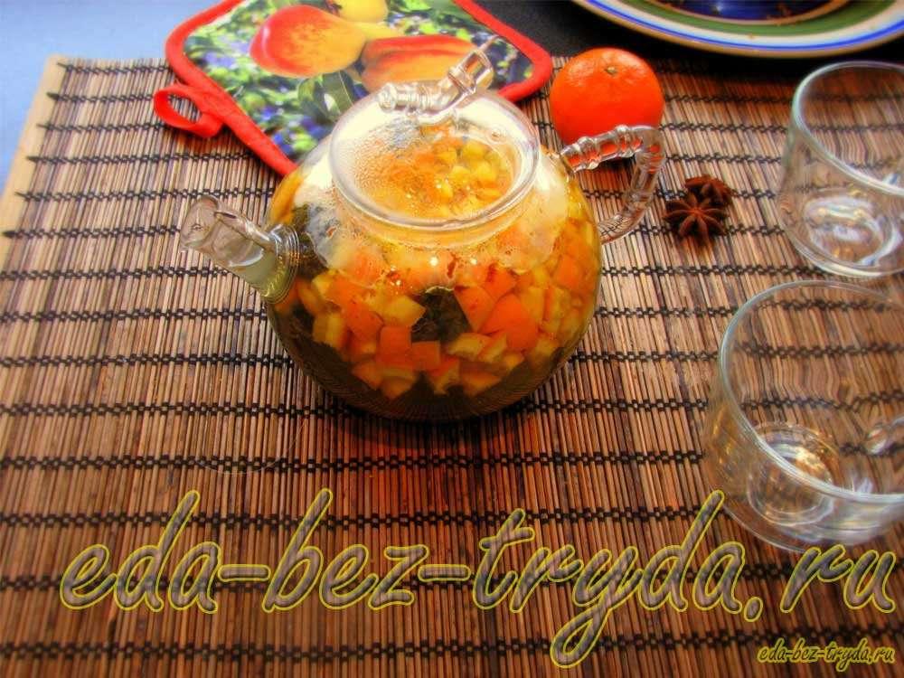 Апельсиновый чай рецепт с фото