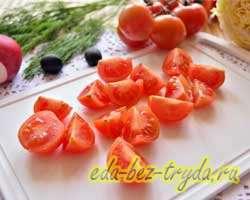 Салат с пекинской капустой и маслинами 3 шаг