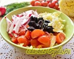Салат с пекинской капустой и маслинами 5 шаг