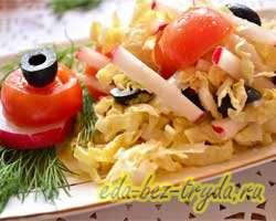 как приготовить Салат с пекинской капустой и маслинами для стройной фигуры