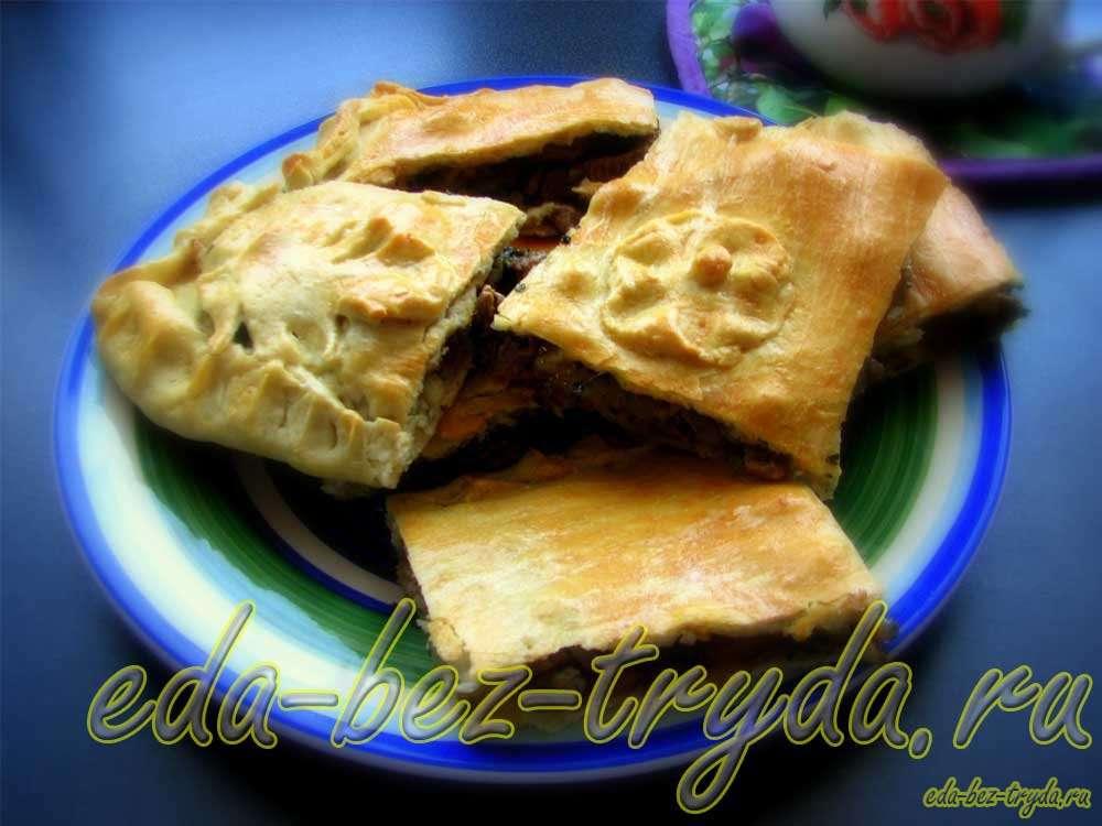 Пирог с говядиной рецепт с фото