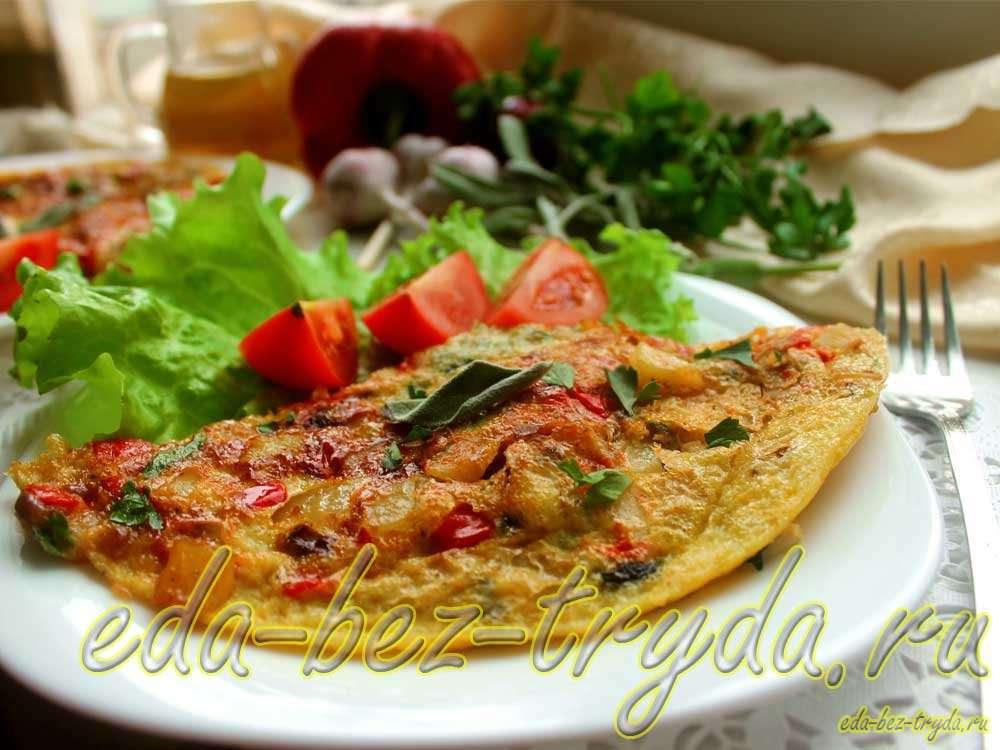 Фриттата с овощами рецепт с фото