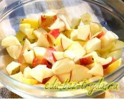 Яблочный пирог с медом 5 шаг