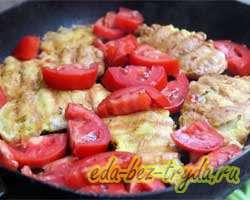 Куриные отбивные с помидорами 7 шаг