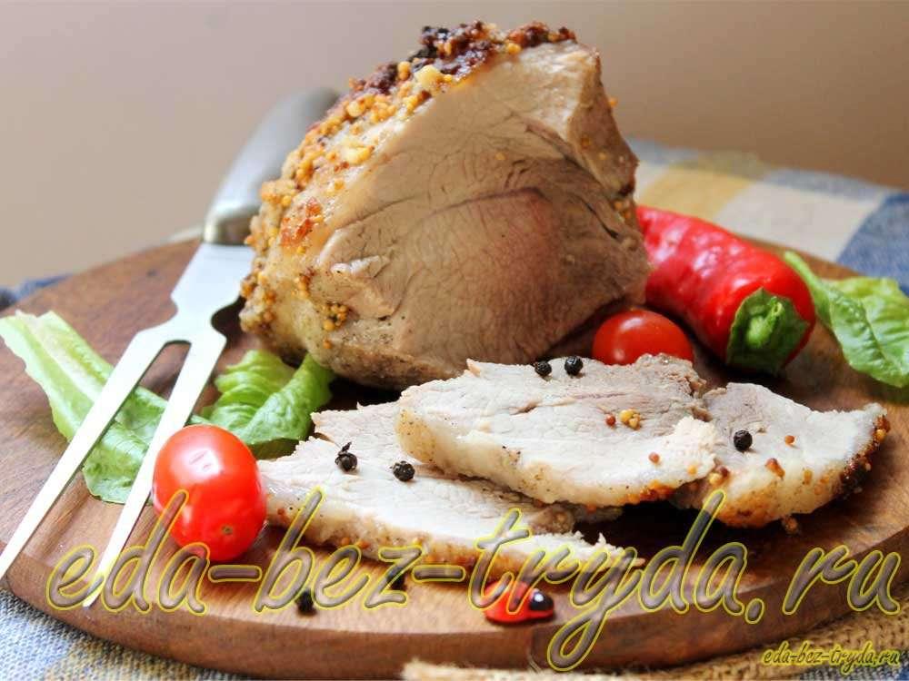 Пастрома из свинины рецепт с фото