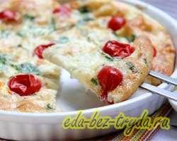 Омлет в духовке с помидорами 5 шаг
