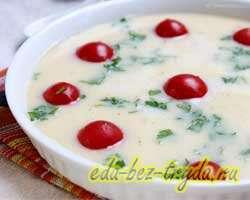 Омлет в духовке с помидорами 4 шаг