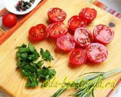 Омлет в духовке с помидорами 3 шаг