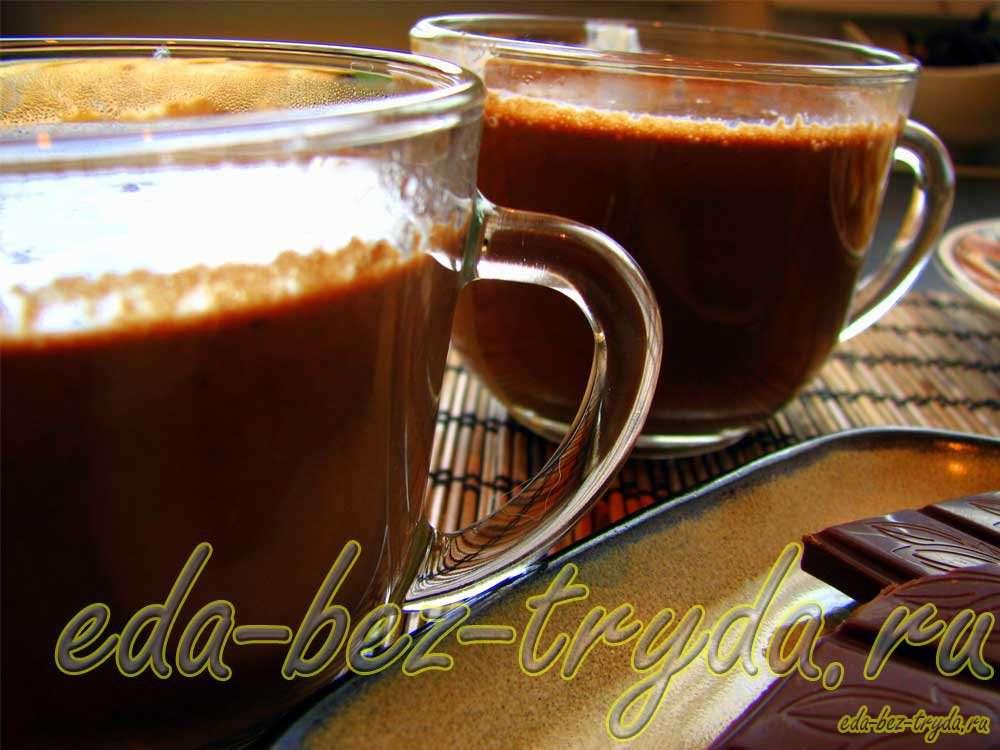 Горячий шоколад рецепт рецепт с фото
