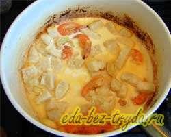 Паста с морепродуктами в сливочном соусе 6 шаг