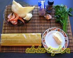 как приготовить Паста с морепродуктами в сливочном соусе