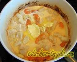 Паста с морепродуктами в сливочном соусе 7 шаг