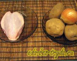 как приготовить Тушеная картошка с курицей