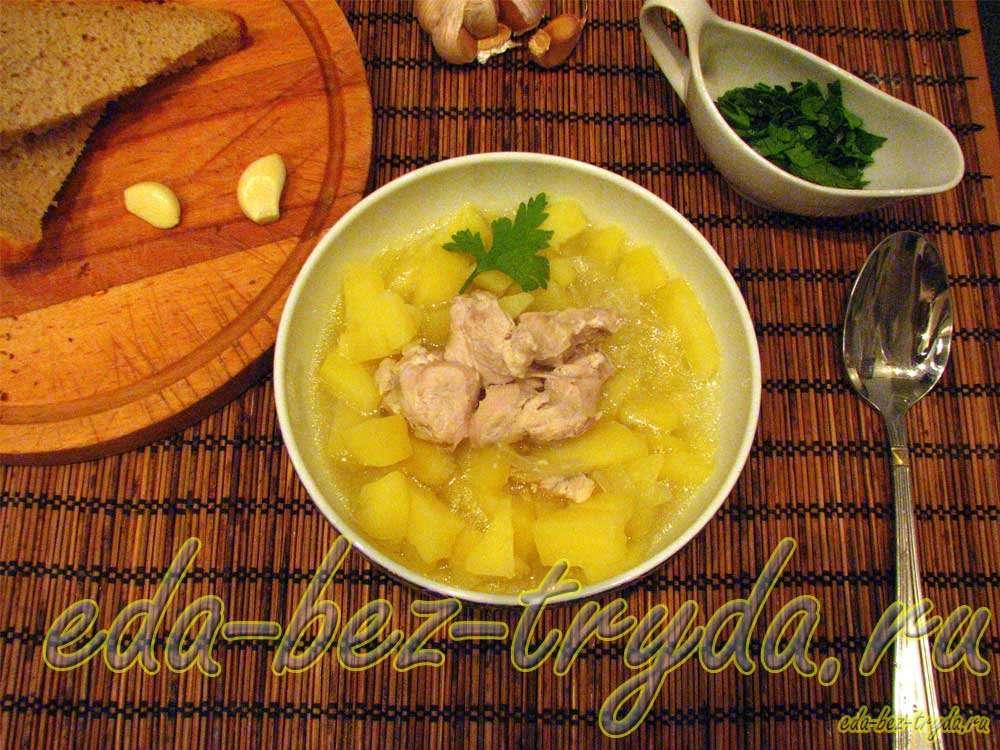 Тушеная картошка с курицей рецепт с фото