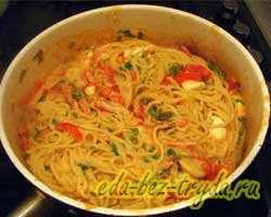 Спагетти с овощами 7 шаг