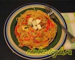 Спагетти с овощами 8 шаг