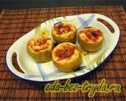 Запеченные яблоки в духовке 3 шаг
