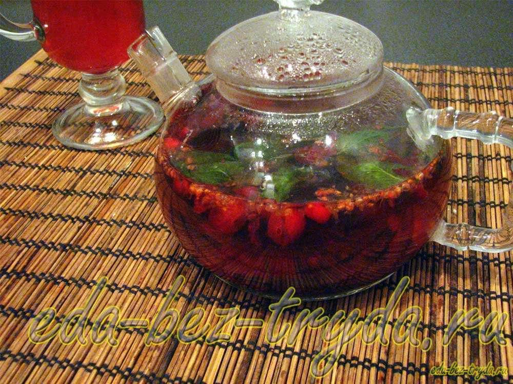 Клюквенный чай рецепт с фото