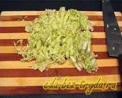 Салат с крабовыми палочками и овощами 1 шаг