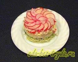 Салат с крабовыми палочками и овощами 7 шаг