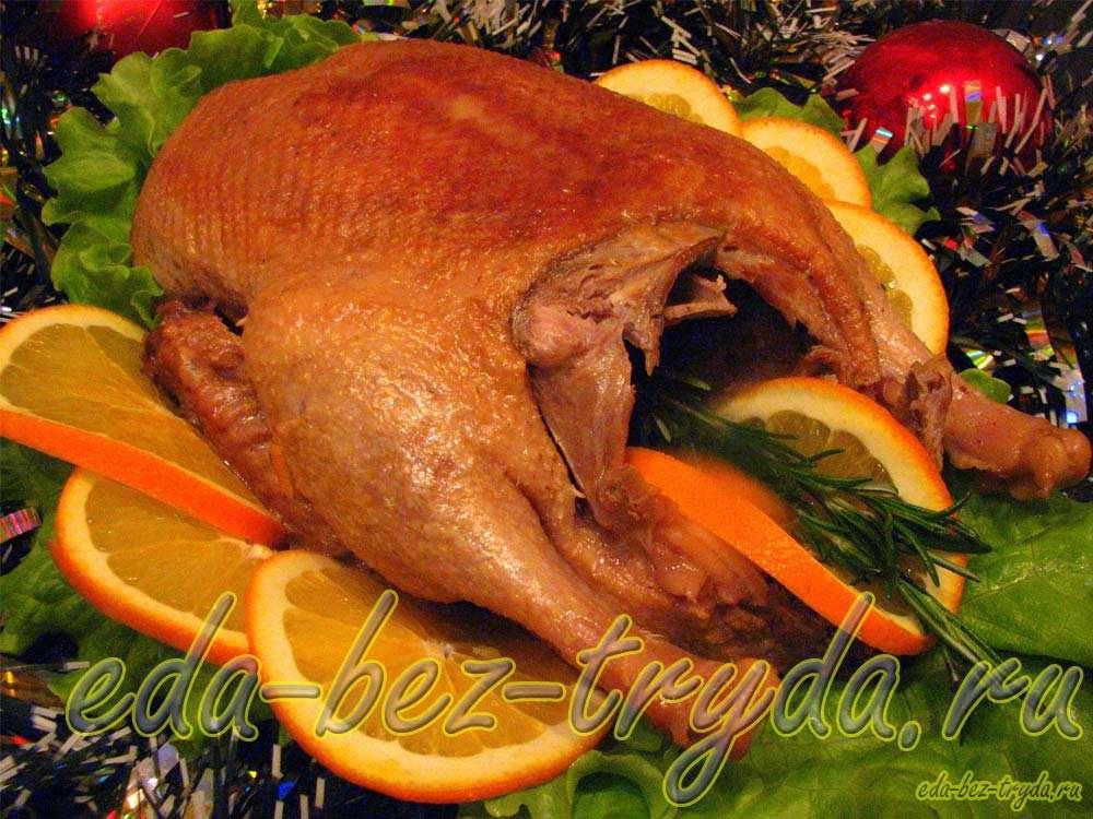 Утка с апельсинами рецепт с фото