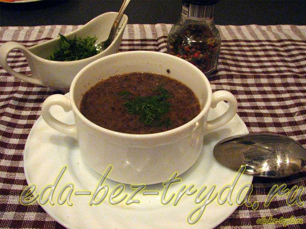 Суп пюре из шампиньонов рецепт с фото