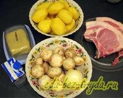как приготовить Свинина в грибном соусе