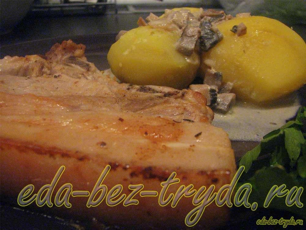 Свинина в грибном соусе рецепт с фото