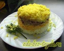 Салат Мимоза классический рецепт с фото 14 шаг
