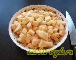 Тушеная картошка с капустой и грибами 3 шаг