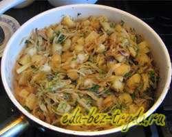 Тушеная картошка с капустой и грибами 9 шаг