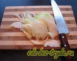 Тушеная картошка с капустой и грибами 1 шаг