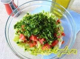 Весенний салат 5 шаг