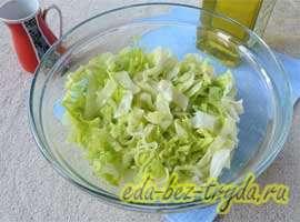 Весенний салат 2 шаг