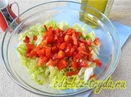 Весенний салат 3 шаг