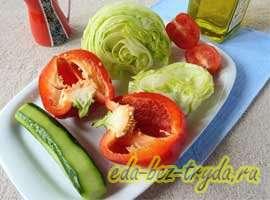 Весенний салат 1 шаг